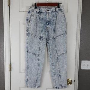 Vintage Lee Acid Washed Jeans Tapered High Rise